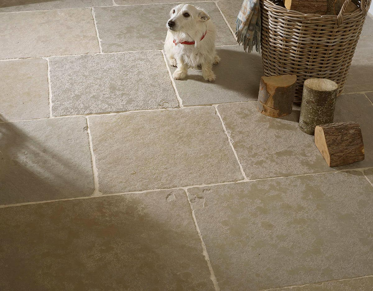 Old Farmhouse Green Stone Floor Tiles