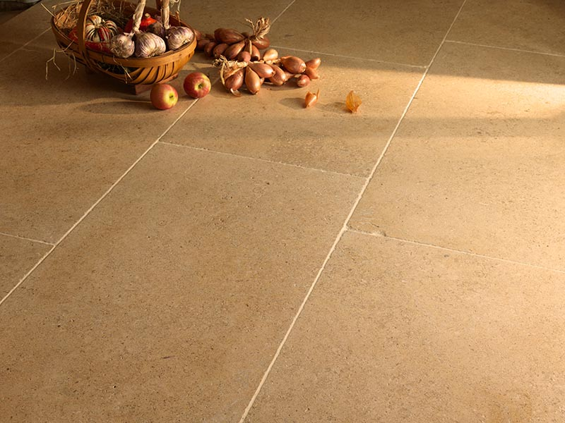 Natural oatmeal stone flooring