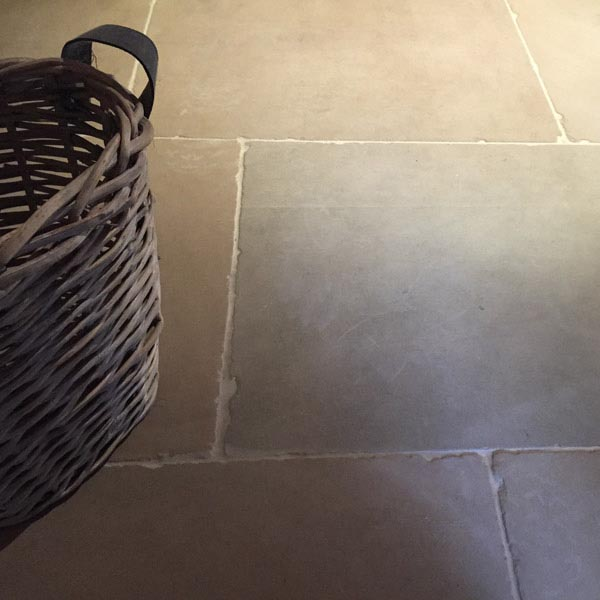 Warm flagstone floor