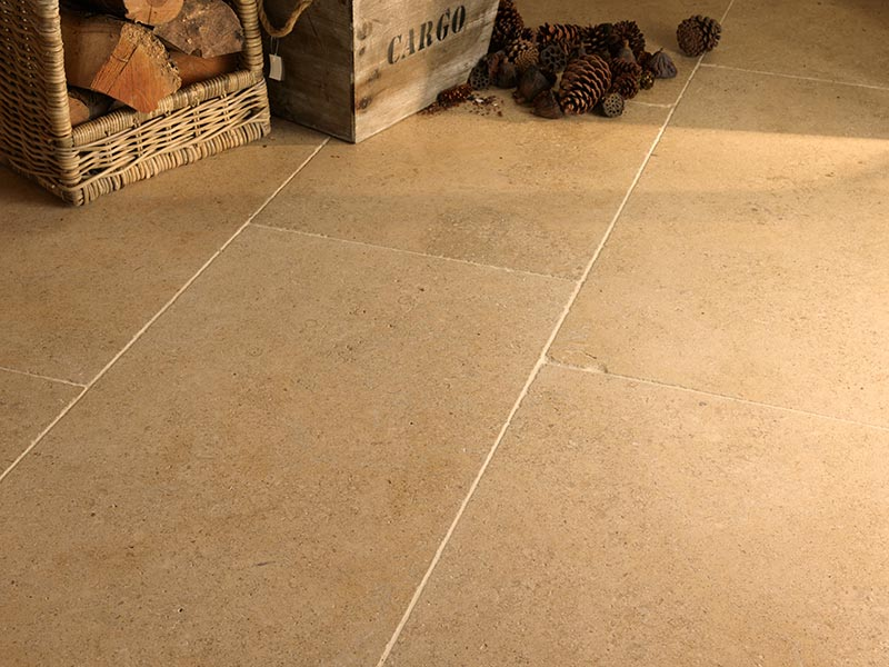 Old oast house warm flagstone flooring tiles