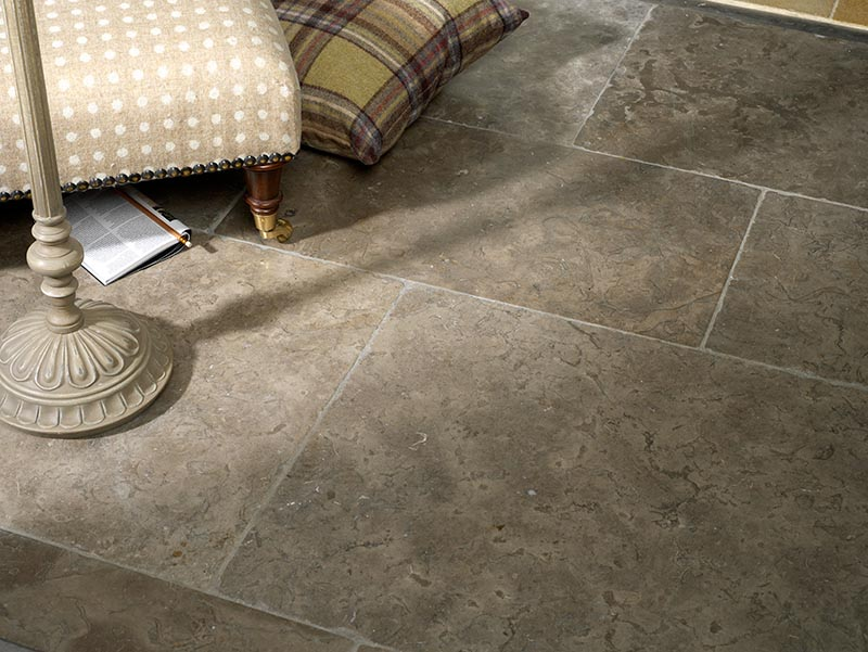 Old Drover flagstone floor